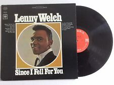 Lenny Welch - Since I Fell For You - Cs-9230 - vinyl Lp 1st Press Mint 1963
