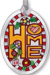"Home Sun Catcher 3.75""x2.75"" AMIA Glass Small Oval New Mary Engelbreit Design"