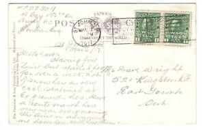 1917 Canada - St.John, N.B. War Savings Slogan Cancel PPC - Admiral War Tax Pair