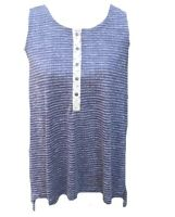 Hem & Thread Womens Size Medium Striped Sleeveless Top Tank Top Blue White New