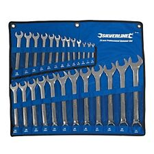 Silverline 25pc Combination Spanner Set Metric Combo Garage Ring Tool 6-32mm