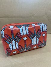 Accessorize Designer Canvas Lipstick Print Cosmetic / Make Up Bag