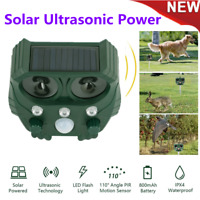 Outdoor Solar Ultrasonic Power Pest Animal Repeller Repellent Garden Cat Dog Fox