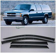For Chevrolet Suburban 1992-1999 Window Visors Sun Rain Guard Vent Deflectors