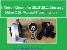 3 Motor Mount for 2010 - 2011 Mercury Milan 2.5L with Manual Transmission