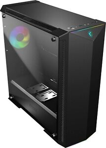 MSI Premium Mid-Tower PC Gaming Case – Tempered Glass Side Panel – RGB