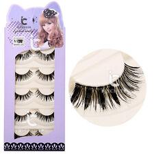 5 Pairs Japanese Serious Makeup False Eyelashes Long Thick Eye Lash Extension