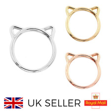 **Cat Ears Ring Gold Silver Rose Gold One Size***