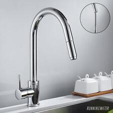 Kitchen Tap With Pull Out Hose - Monobloc Sink Mixer Chrome Steel Tap - UK