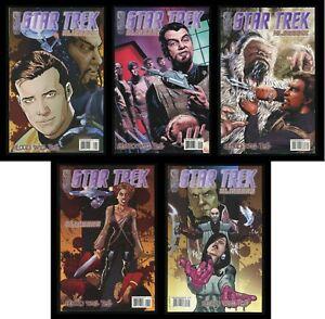Star Trek Klingons Blood Will Tell Comic Set 1-2-3-4-5 Lot A IDW James T Kirk