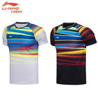 2017 World Championships Li Ning Tops tennis Clothing Men's badminton T-shirt