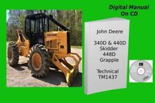 John Deere 340d 440d Skidder 448d Grapple Repair Technical Manual Tm1437