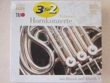 Virtuose Hornkonzerte aus Barock und Klassik - Vaijnar, Kopelman - 3 CD Neu OVP