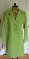 Michael Kors Trench Coat S Brooch Spring Green Jacket NWT