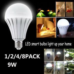 1-8PCS Rechargeable LED Flood Light Bulbs with Battery Backup Emergency LED Bulb