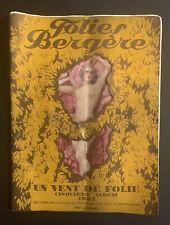Folies Bergere, Josephine Baker, 1927 Album, Program, Catalog,Paris, France,RARE