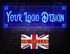 More details for 600mmw x 200mmh own free design personalized custom logo led neon bar shop sign