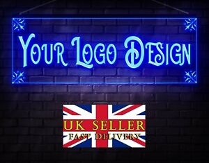 600mmW x 200mmH Own Free Design Personalized Custom Logo LED Neon Bar Shop Sign