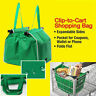 AU Foldable Reusable Grocery Large Trolley Clip-To-Cart Supermarket Shopping Bag