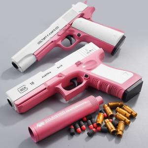 Plastic EVA Foam Darts Bullets Gun Glock Toys Case Accessories M1911 Pistol