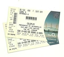 Coldplay tickets London O2 Arena 2008