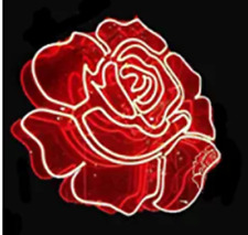 "New Flower Red Rose Wall Decor Bar Pub Man Cave Neon Light Sign 20""x16"""