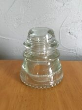 (1) Hemingray 42 Glass Insulators Nice Clear Vintage Good Condition