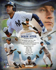 NY New York Yankees DEREK JETER Glossy 8x10 Photo Stats Print Collage Poster