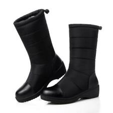 Женские повседневные низкий каблук круглый носок комфорт ботильоны 3 цвета зимняя обувь 35/44 D