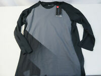 Men's Under Armour UA Vanish ¾ Sleeve Top 1320673 New Size Medium Black/Gray NWT