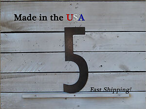 "12"" Metal Number-Metal Wall Numbers-Outdoor Numbers-Street Numbers- F1006"