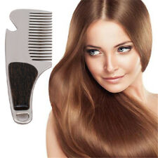 Stainless Steel Pick up Brushed Metal Trim Beard Mustache Hair Styling Comb SK