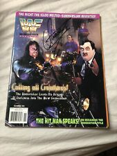 WWE WWF The Undertaker Signed Magazine Wwe Nov 95 Some Ware To It On Back