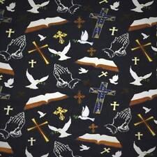 "Christian Prayer Bible Fleece Fabric  - 60"" Wide- Style# 8084"