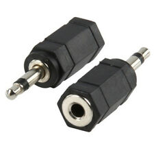 3.5mm Male Female Stereo To Mono Headphone Jack adaptor MP3 Etc X2