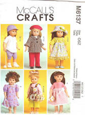 Sewing PATTERN Baseball uniform hat Clothes McCalls 6137 beret for 18in doll