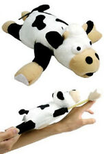 SLINGSHOT FLYING COW TOY w/ SOUND flingshot dog gag G24