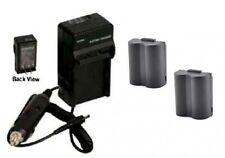 2 Batteries + Charger for Panasonic DMC-FZ7EFS DMC-FZ7EGK DMC-FZ7EGS DMC-FZ7GK