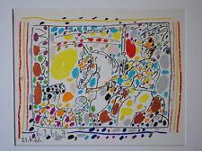 "Picasso Original 24 Color  Lithograph ""Le  Picador II"""