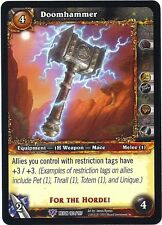 WORLD OF WARCRAFT WOW TCG REIGN OF FIRE : DOOMHAMMER X 4