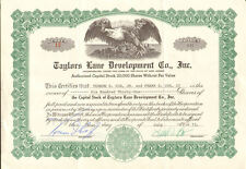 Taylors Lane Development Co. > New Jersey stock certificate share scripophily