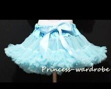 Light Blue FULL Tutu Skirt Dance Party Dress Girl Adult Women Lady