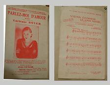 1933 PARTITION PAROLES ET MUSIQUE DE JEAN RENOIR PARLEZ MOI D'AMOUR EXC ETAT
