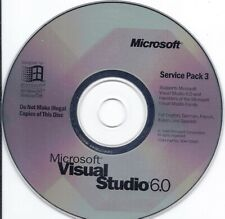GENUINE Microsoft Visual Studio 6.0 CD with service pack 3