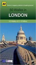 AA __ 50 WALKS IN LONDON ___ 2017 REIMPRESIÓN ___ Light desgaste Estantería ___