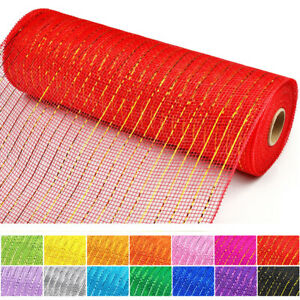"""21"""" x 10 YDS Metallic Deco Mesh Roll Ribbon for Wreaths Swags and Decorating"""