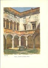 Stampa antica montagna TEGLIO PALAZZO BESTA Sondrio Valtellina 1934 Old print