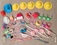 1980s and 1990s Vintage Barbie Head, Hair, and Face Accessories (42 pieces!)