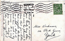Genealogy Postcard - Family History - Workman - Park Grove - York   BH5675