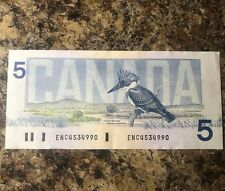 Bank of Canada 1986 Birds Series $5  BC-56a Crow Bouey